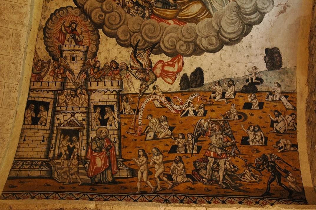 Representació del Arcàngel Sant Gabriel de l'església de Santa Maria d'Arties