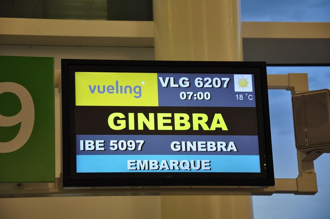 Ruta per Suïssa - Aeroport de Barcelona