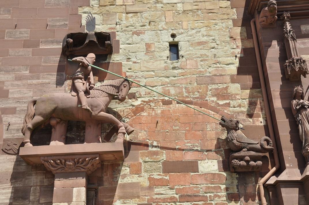 Sant Jordi de la façana de la Catedral de Basilea