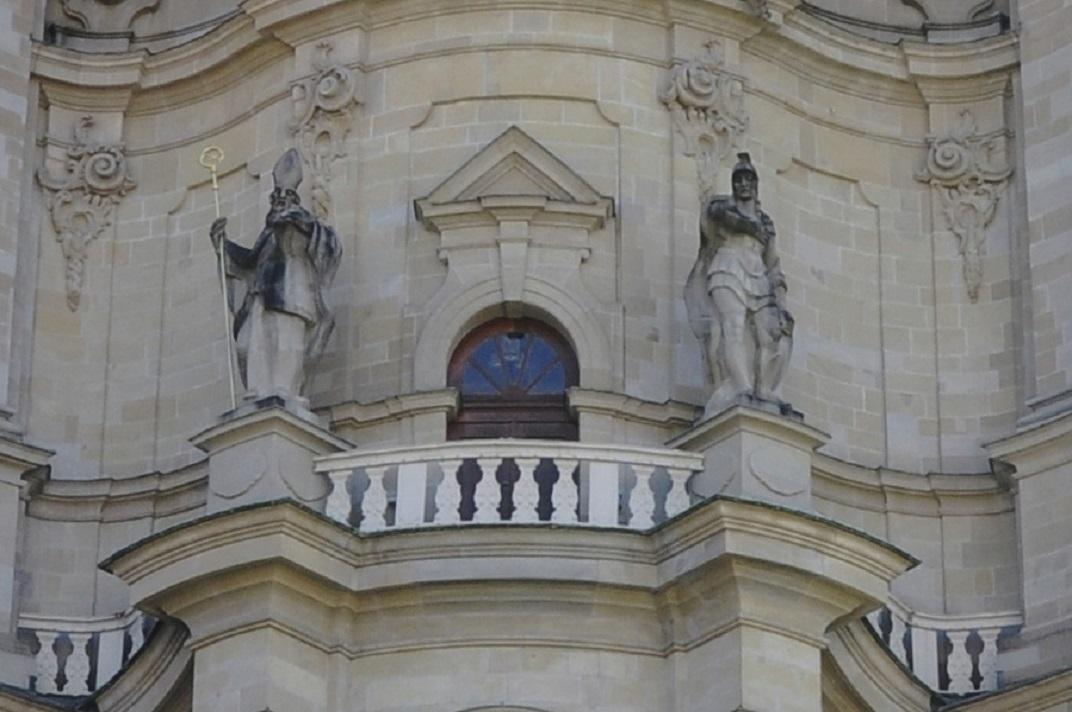 Sants Desideri i Maurici de la façana oriental de la Catedral de Sankt Gallen