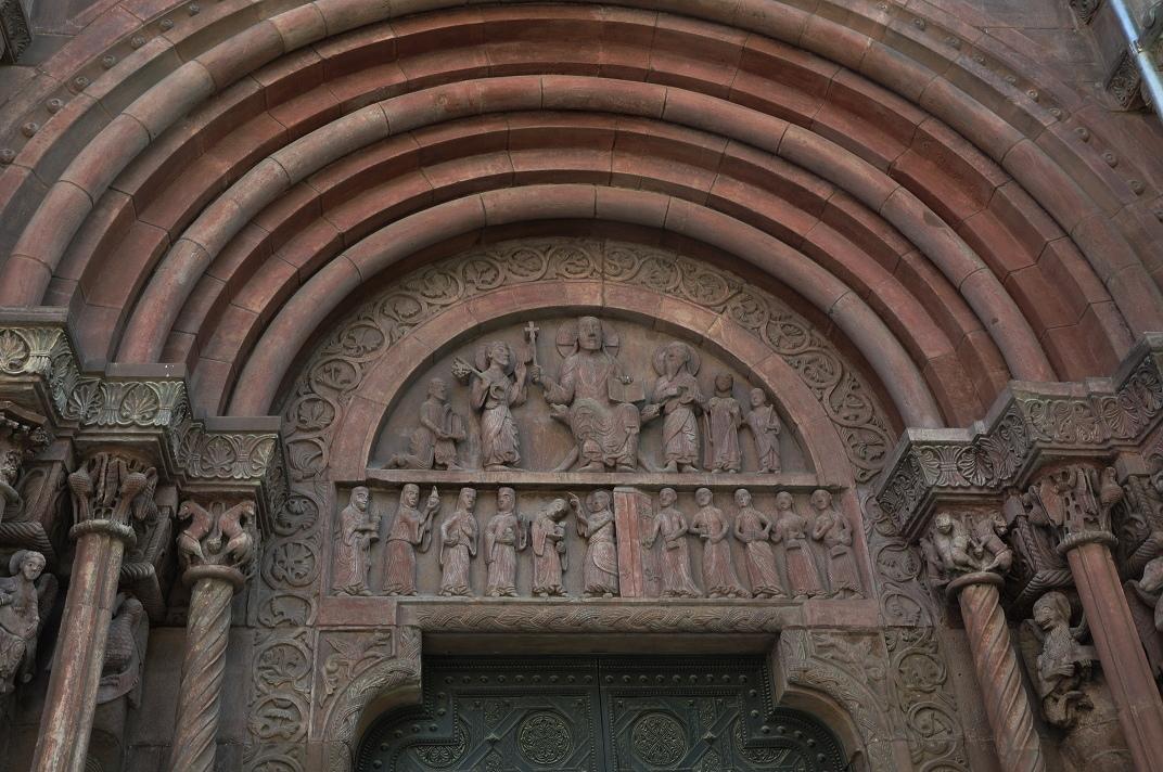 Timpà del pòrtic romànic de la Catedral de Basilea