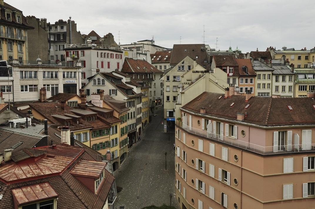 Vista de la ciutat des del la Ciutat Vella de Lausana