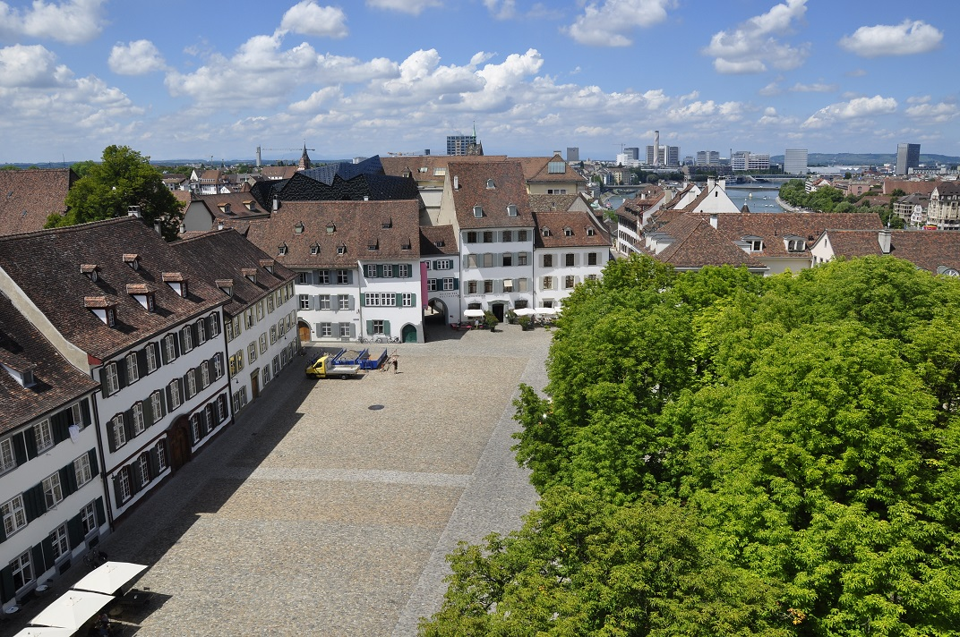 Vista de la plaça de la Catedral de Basilea