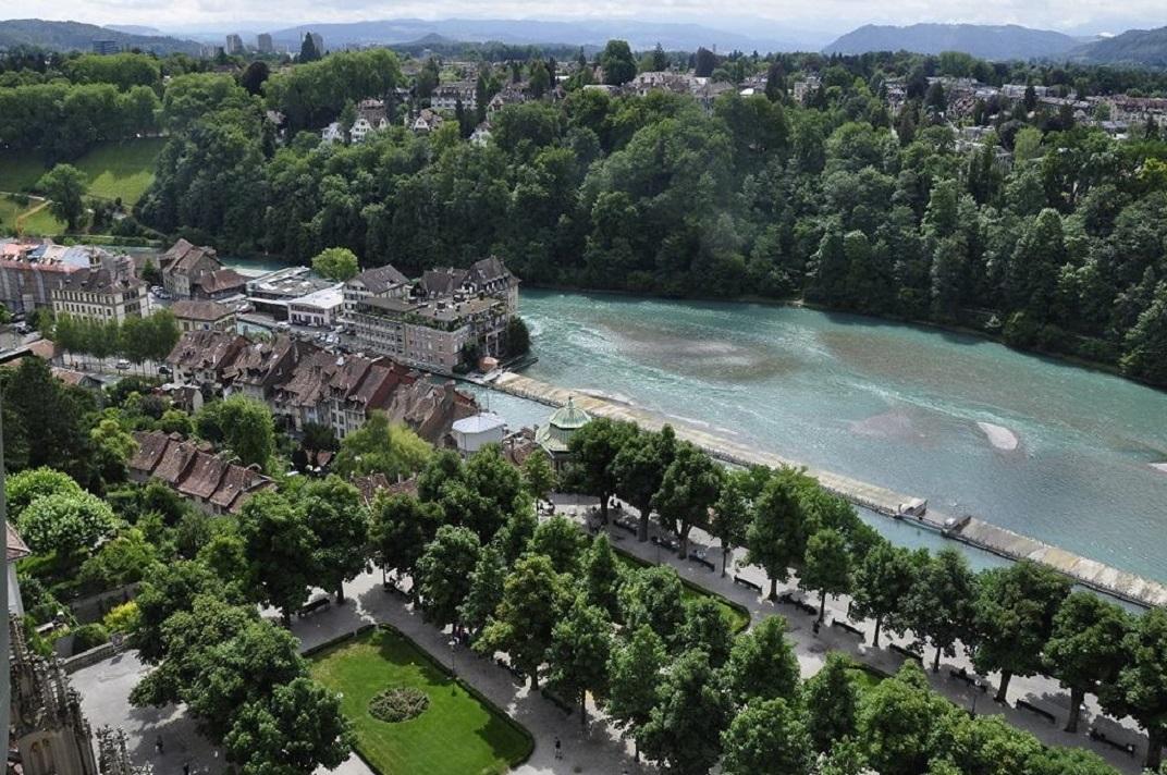 Vista de la plataforma des de la torre de la Catedral de Berna