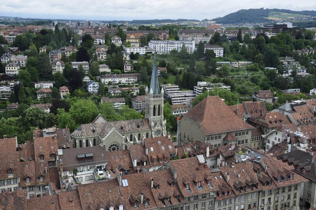 Vista de l'Ajuntament des de la torre de la Catedral de Berna