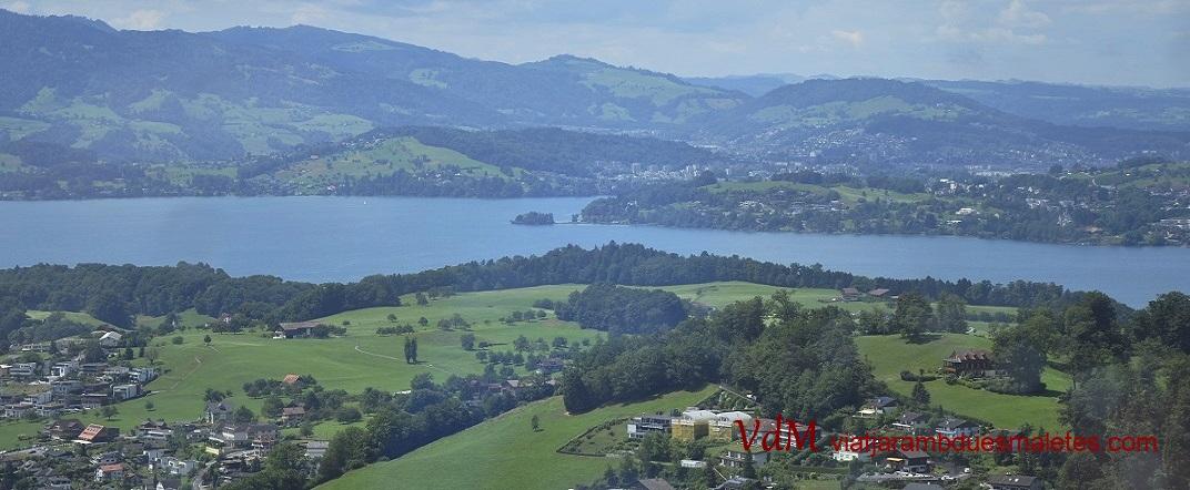 Vista de Lucerna des de la muntanya Rigi