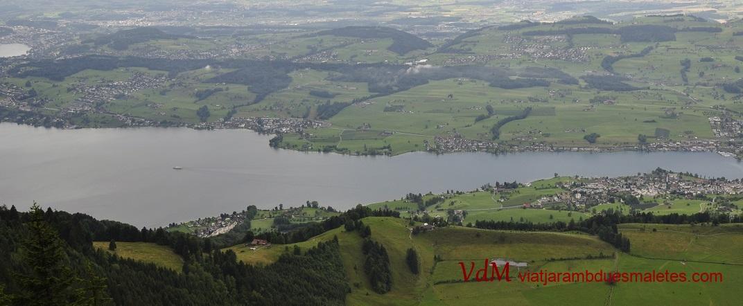 Vista del llac de Lucerna des de la muntanya Rigi