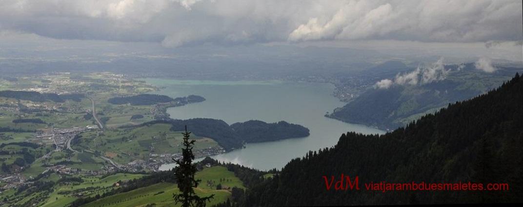 Vista del llac de Zug des de la muntanya Rigi