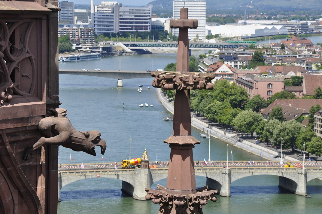 Vistes del pis superior de la Catedral de Basilea