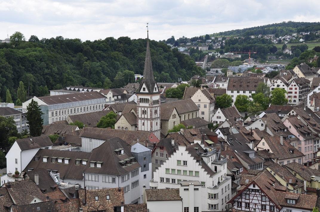 Vistes des del Munot de la catedral de Schaffhausen