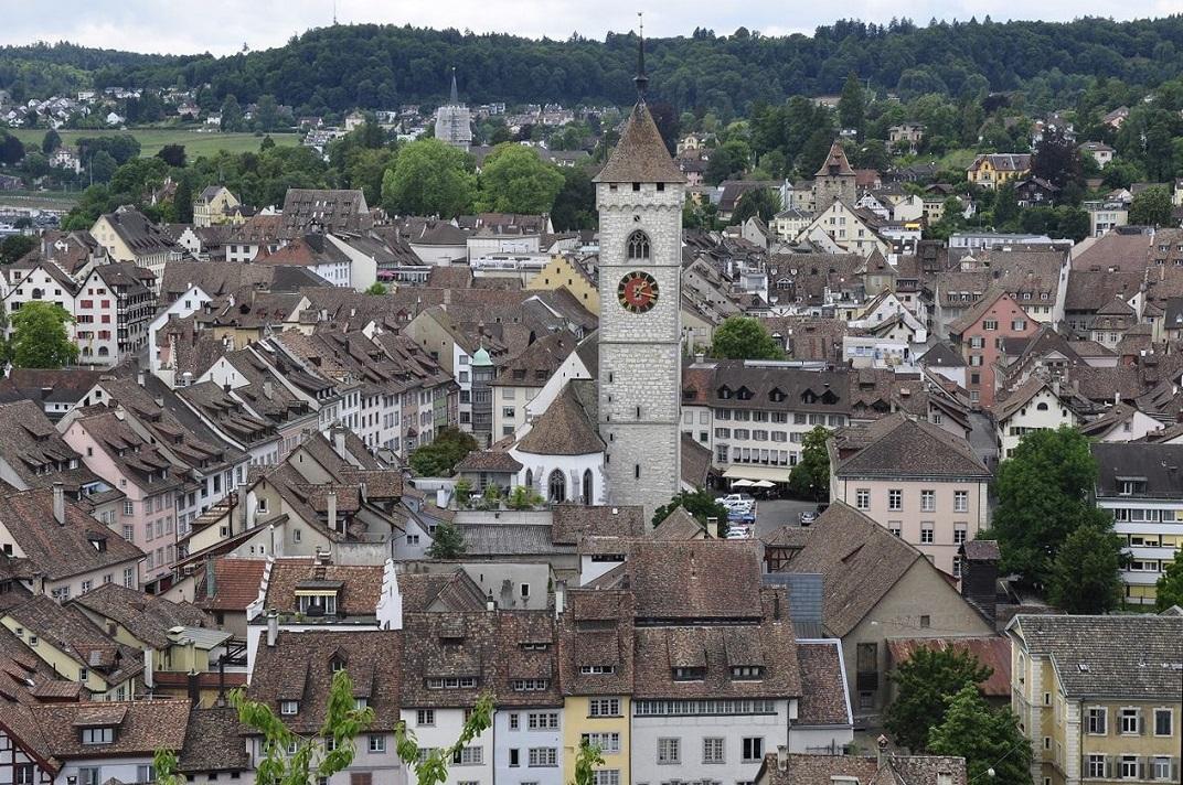 Vistes des del Munot de l'església de Sant Joan de Schaffhausen