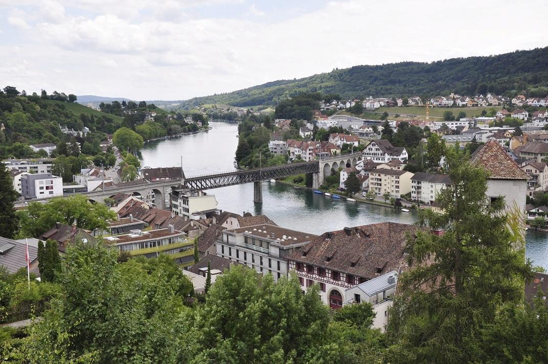 Vistes des del Munot del riu Rin de Schaffhausen