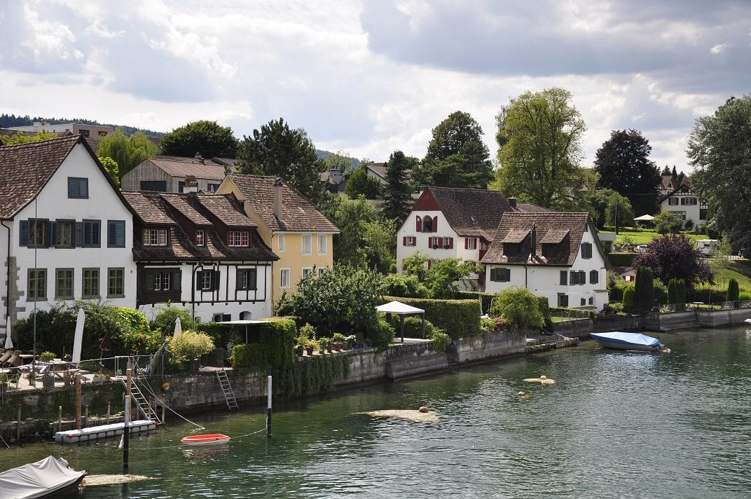 Vistes des del pont del Rin de Stein-am-Rhein
