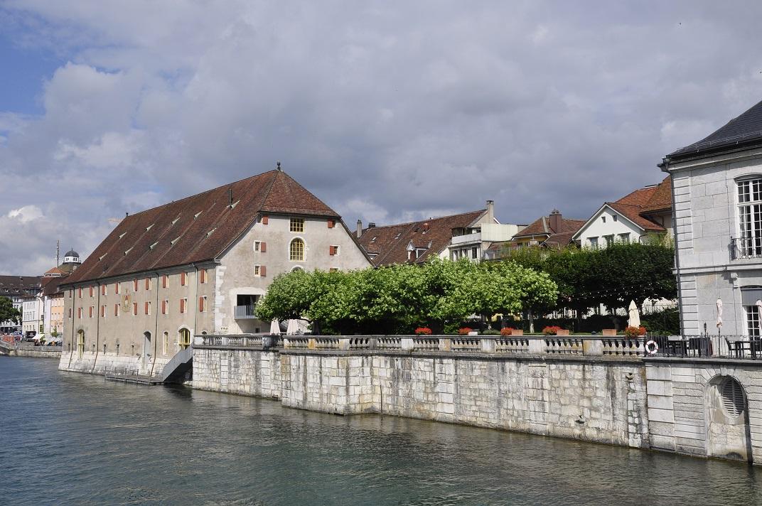 Vistes des del pont del riu Aar de Solothurn