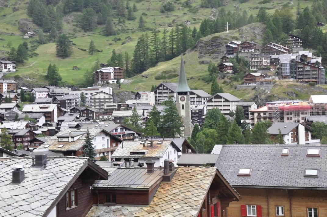 Zermatt des del tren cremallera del Gornergrat