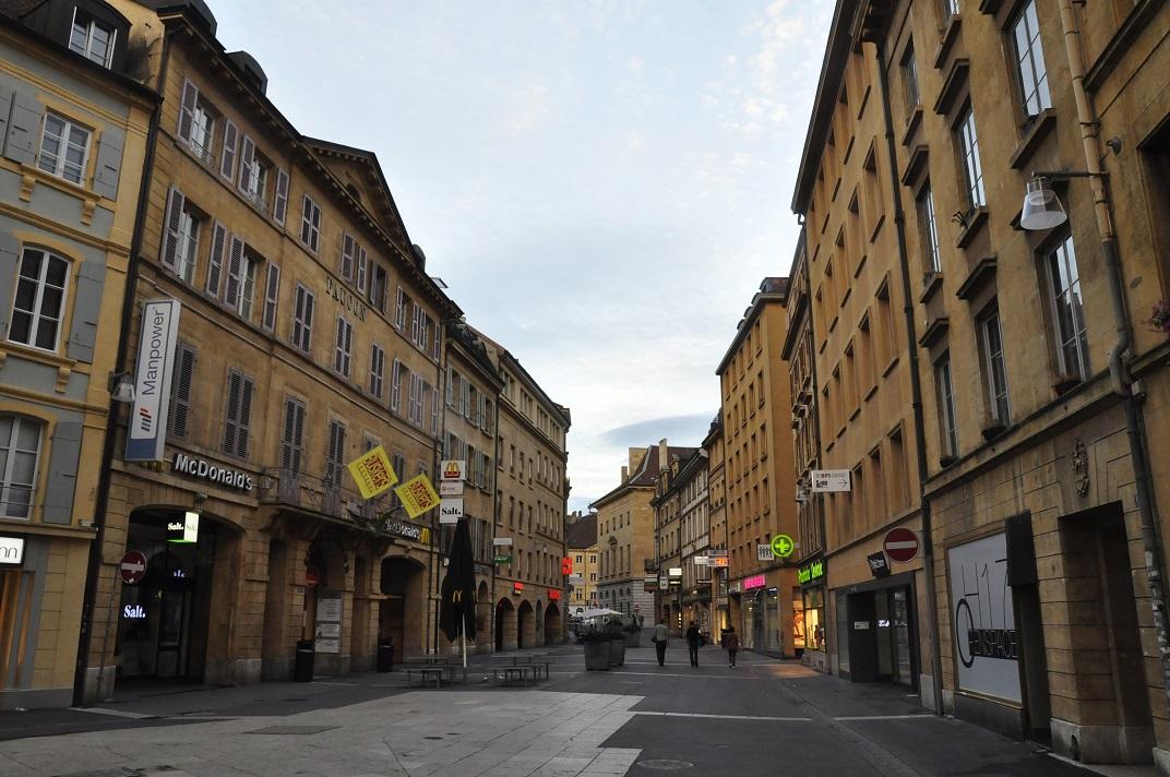 Zona de vianants del nucli antic de Neuchâtel